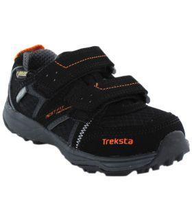 Treksta Speed Velcro Low Gore-Tex TrekSta Zapatillas Trekking Niño Calzado Montaña Tallas: 23, 24; Color: negro