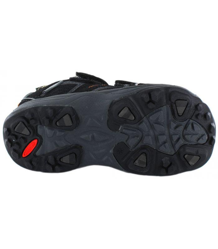Zapatillas Trekking Niño - Treksta Speed Velcro Low Gore-Tex negro Calzado Montaña