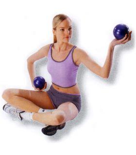 Pelotas fitness lastradas 2 x 1 kg Pesas - Tobilleras lastradas