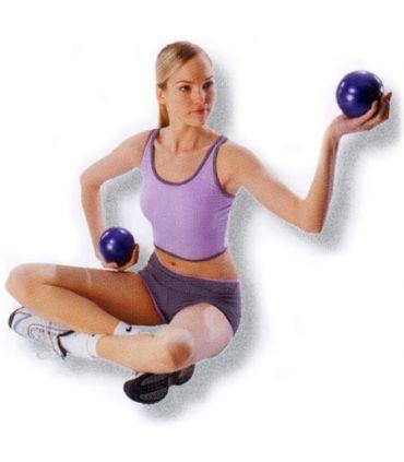Pelotas fitness lastradas 2 x 1 kg