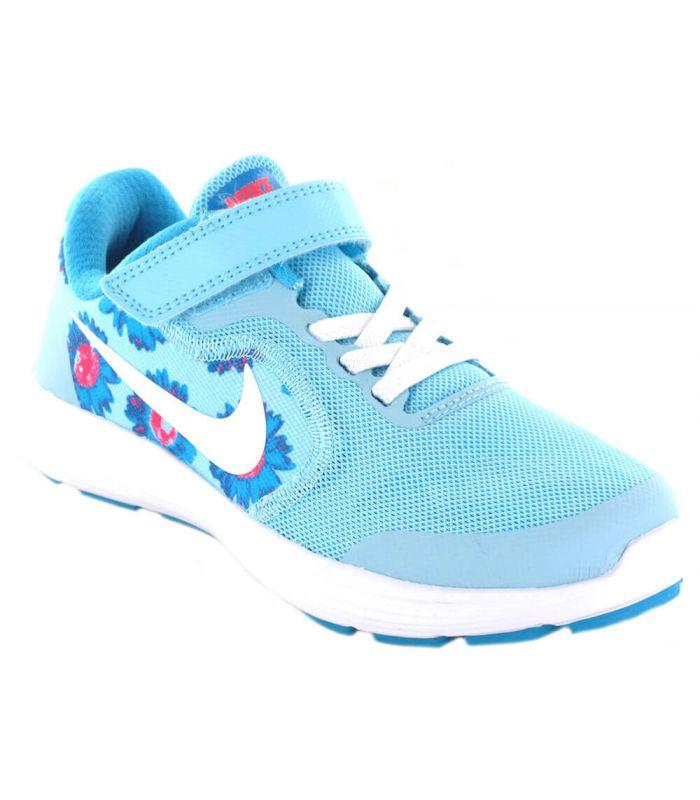 pómulo maldición marca  Zapatillas Running Niño - Nike Revolution 3 Print PSV azul claro l