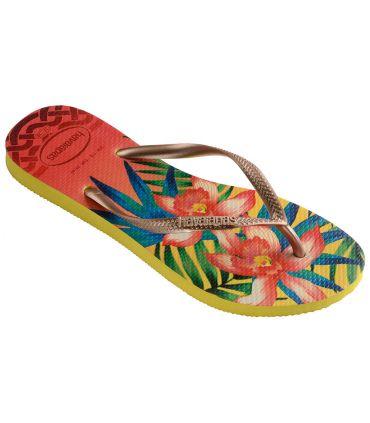 Havaianas Slim Tropical Amarillo