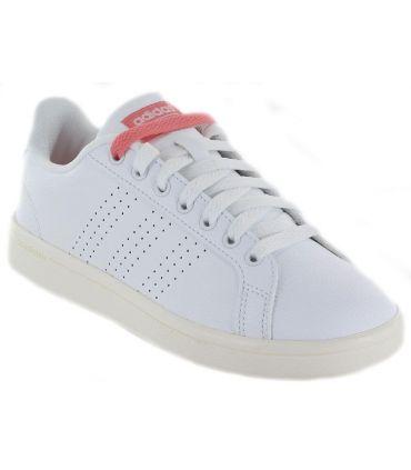 Adidas Cloudfoam Advantage Clean Adidas Calzado Casual Mujer Lifestyle Tallas: 36 2/3, 38 2/3; Color: blanco