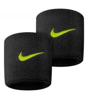 Nike Muñequeras Negro-Amarillo