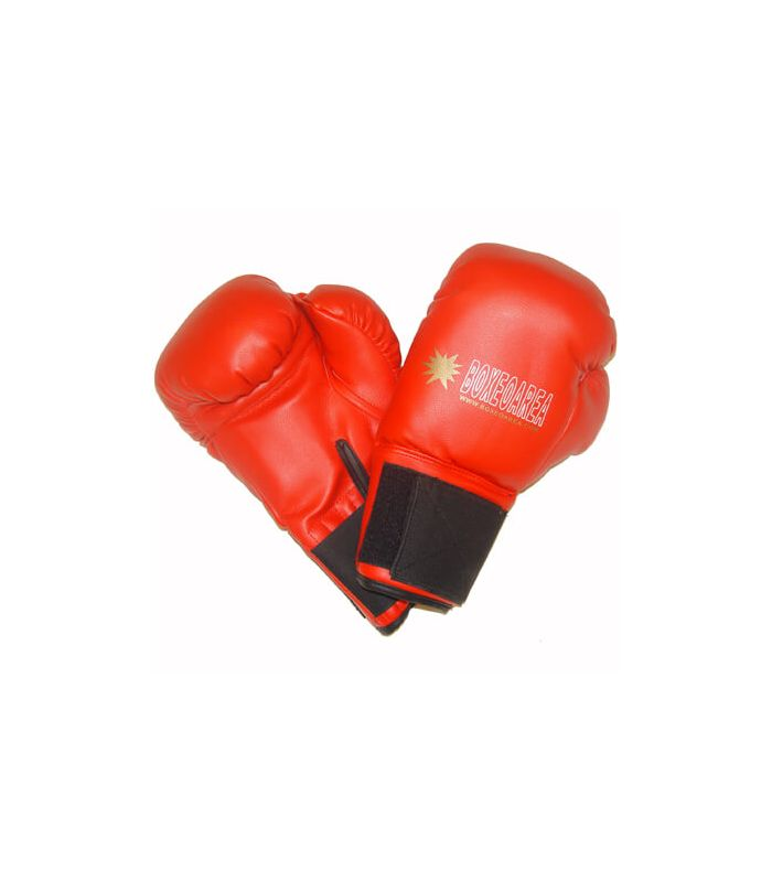 Gloves boxing BoxeoArea 1808 pu red