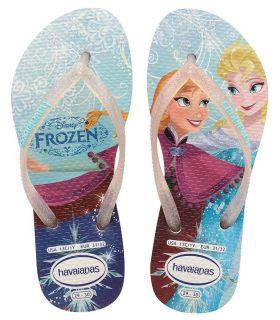 Havaianas Kids Slim Princess Havaianas Sandalias / Chancletas Calzado Tallas: 35 / 36; Color: plata