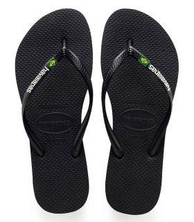 Havaianas Slim Logo Brasile Nero