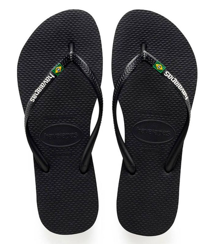 Havaianas Slim Brésil Logo Noir