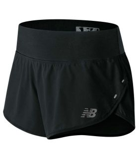 New Balance 3 Inch Impact Short W New Balance Pantalones técnicos running Textil Running Tallas: xs; Color: negro