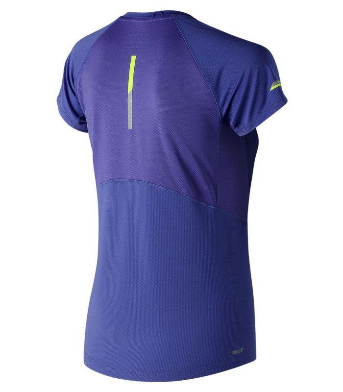 Camisetas técnicas running - New Balance Ice 2.0 Short Sleeve azul Textil Running