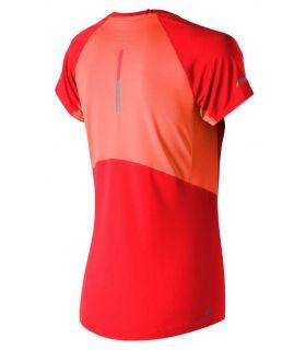 New Balance Ice 2.0 Short Sleeve Naranja New Balance Camisetas técnicas running Textil Running Tallas: xs, s, m; Color: