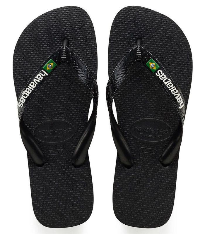 Havaianas Brasil Logo Negro - Tienda Sandalias / Chancletas Hombre
