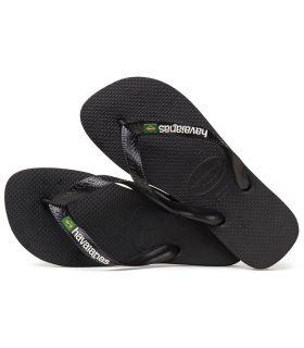 Havaianas Brazil Logo Black - Shop Sandals / Flip-Flops Man