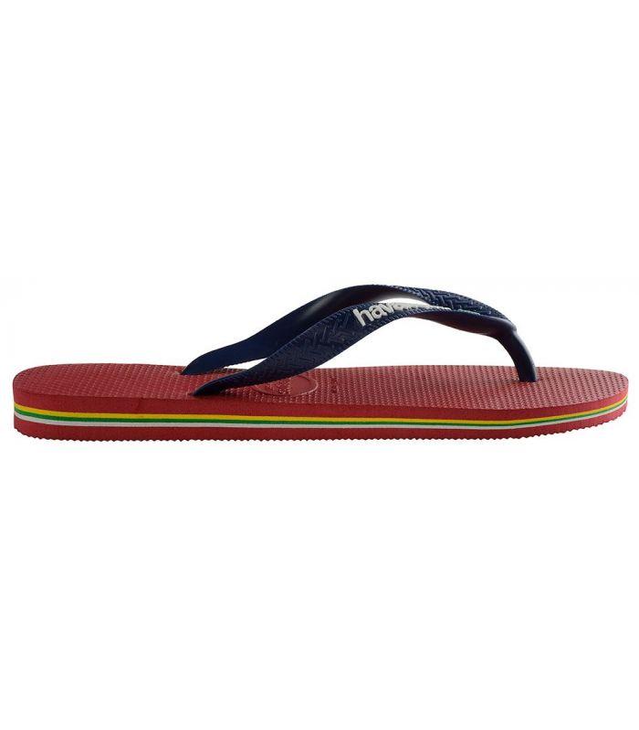 Havaianas Brasil Logo Rojo - Boutique Sandales / Tongs Homme