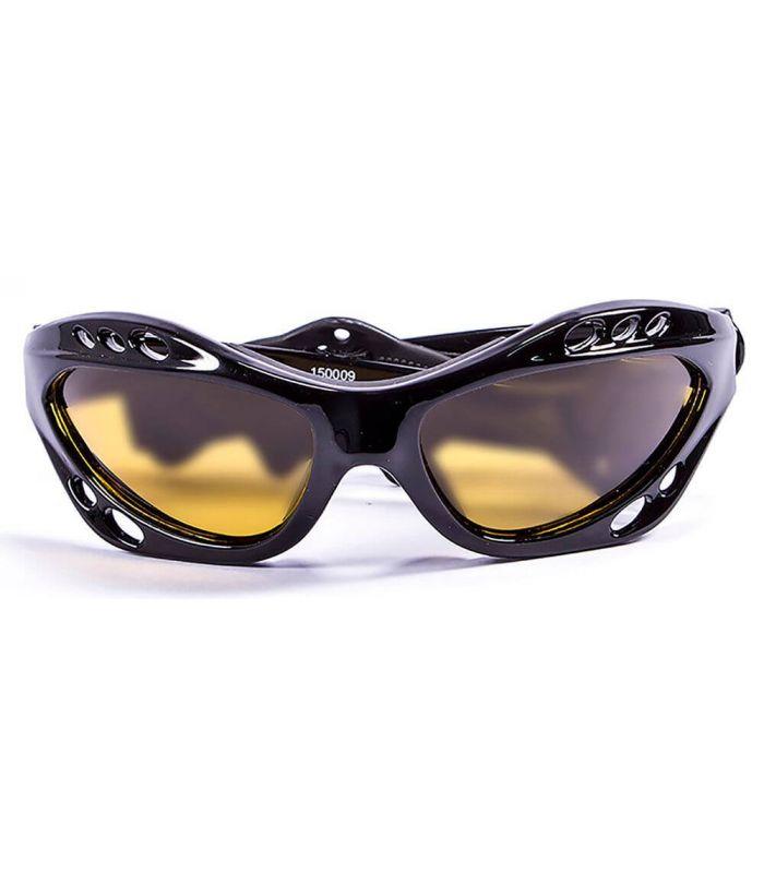 L'Océan Cumbuco Noir Brillant / Jaune - Lunettes De Soleil De