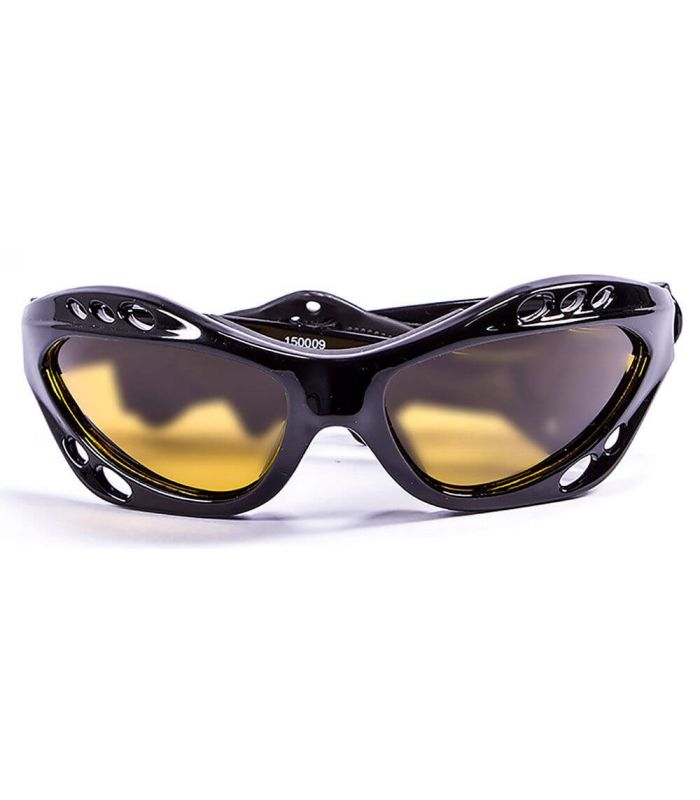 Ocean Cumbuco Shiny Black / Yellow - Sunglasses Running