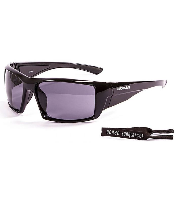 Ocean Aruba Shiny Black / Smoke - Sunglasses Running