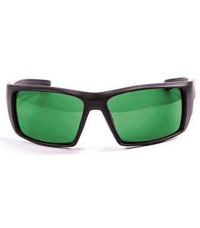 Ocean Aruba Shiny Black / Revo Green Ocean Sunglasses Gafas de sol Running Running Color: negro