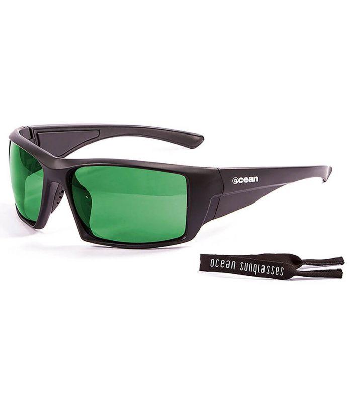 Ocean Aruba Shiny Black / Revo Green - Sunglasses Running