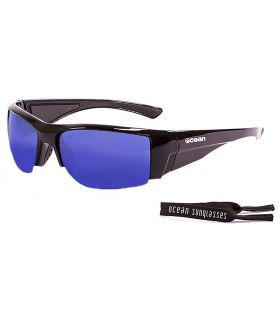 Ocean Guadalupe Shiny Black / Revo Blue - Sunglasses Running