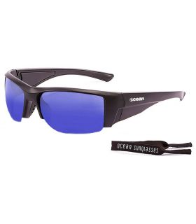 Ocean Guadalupe Mate Black / Revo Blue - Sunglasses Running
