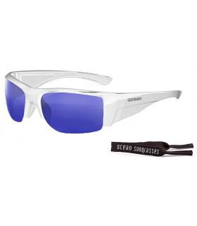 Ocean Guadalupe Shiny White / Revo Blue - Sunglasses Running