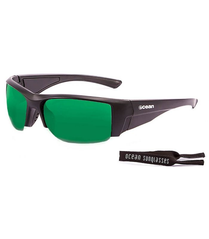 Ocean Guadalupe Matte Black / Revo Green - Sunglasses Running
