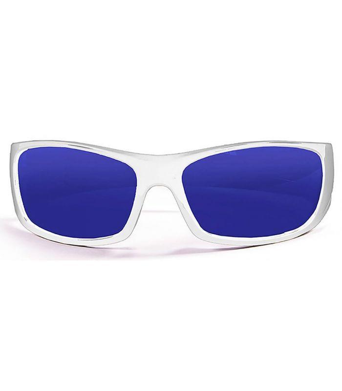 Ocean Bermuda Shiny White / Revo Blue - Sunglasses Running