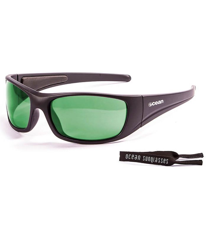 Ocean Bermuda Matte Black / Revo Green - Sunglasses Running