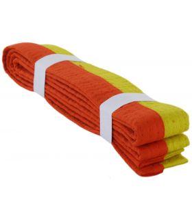 Cinturon Artes Marciales Amarillo Naranja BoxeoArea Cinturones karate Karate Tallas: 180 cm, 240 cm, 300 cm