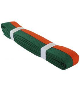 Cinturon Artes Marciales Naranja Verde - Cinturones karate - BoxeoArea 220 cm