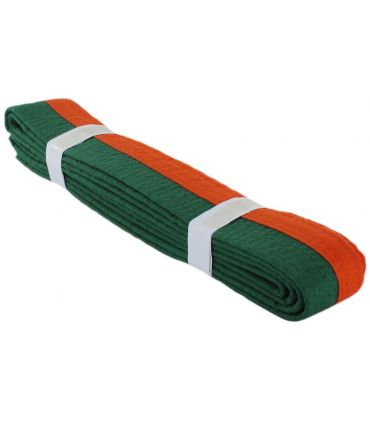 Cinturon Artes Marciales Naranja Verde