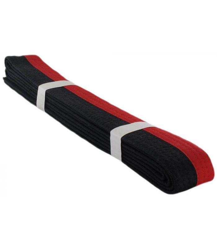Cinturon Artes Marciales Negro Rojo