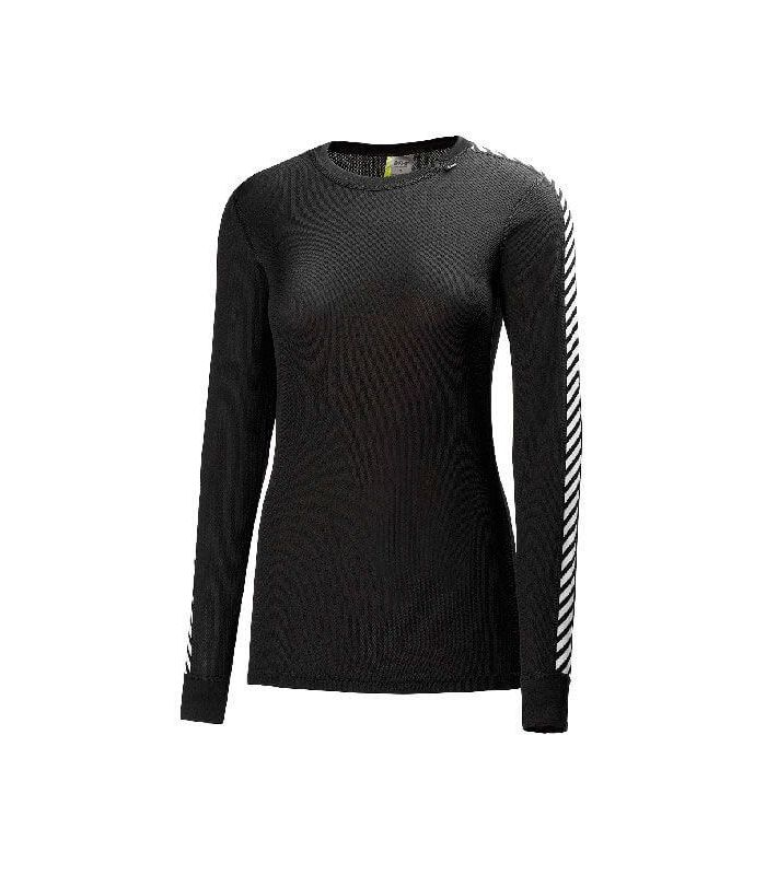 Camisetas técnicas montaña - Helly Hansen Dry Stripe Crew W Negro negro Textil montaña