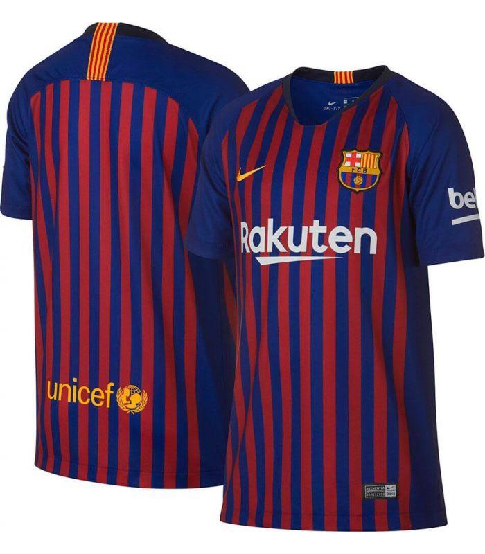 Equipaciones Oficiales Fútbol - Nike camiseta de fútbol 2018/19 FC Barcelona Home Youth azul Fútbol