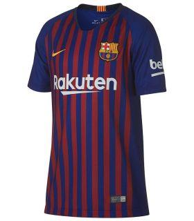 Nike fodbold t-shirt 2018/19 FC Barcelona Hjem Ungdom