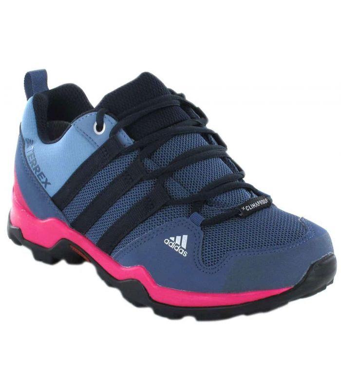 Fecha roja chocolate Melbourne  Zapatillas Trekking Niño - Adidas Terrex AX2R ClimaProof azul l