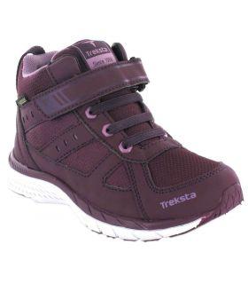 Treksta Trial Mid Jr Gore-Tex TrekSta Botas de Montaña Niño Calzado Montaña Tallas: 26, 28, 34, 38; Color: morado