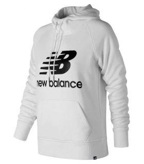 New Balance Sweter Bluza Z Kapturem W Biały