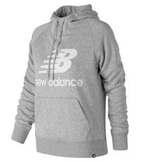 New Balance Pullover Hoodie W Grijs