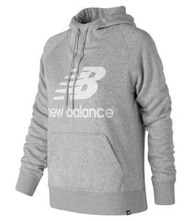 New Balance Pullover Hoodie W Gris - Sudaderas Lifestyle - New Balance gris s, m