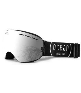 Ocean Cervino Silver Black Ocean Sunglasses Mascaras de Ventisca Gafas Sol Color: gris