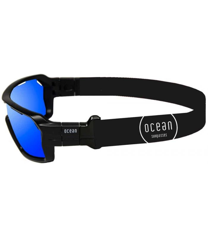Ocean Chamaleon Matte Black / Revo Blue - Sunglasses Sport