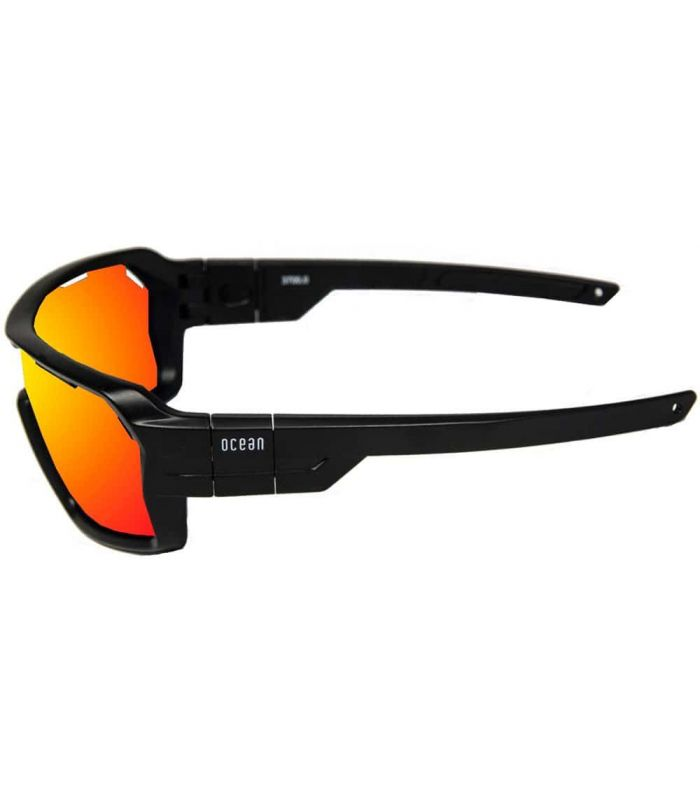 Ocean Chamaleon Shinny Black / Red Revo - Sunglasses Sport
