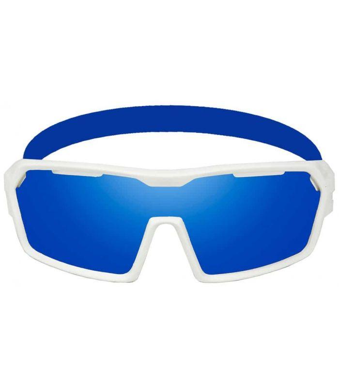 Ocean Chamaleon Matte White / Revo Blue - Sunglasses Sport