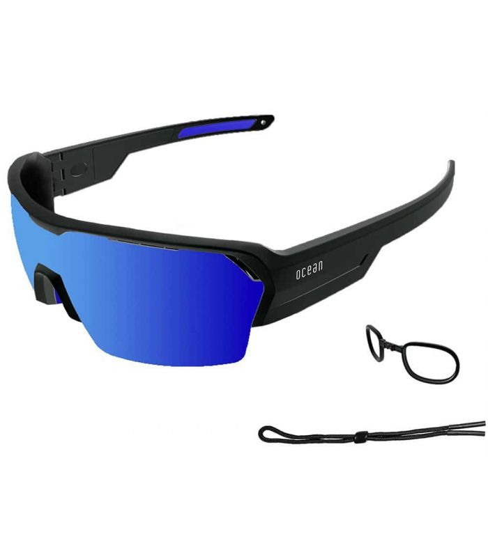 Ocean Race Matte Black / Revo Blue Ocean Sunglasses Gafas de Sol Sport Gafas Sol Color: negro