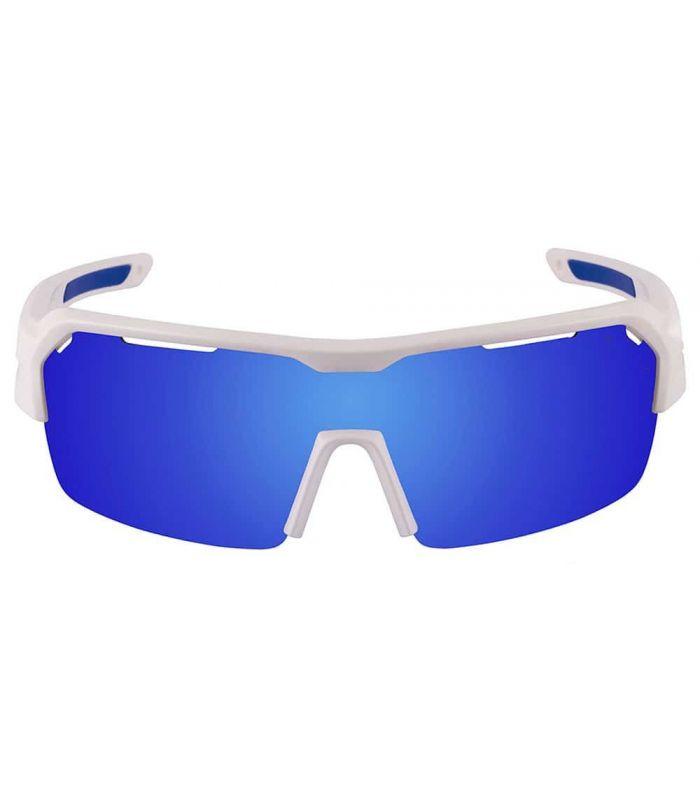 Ocean Race Matte White / Revo Blue - Sunglasses Sport