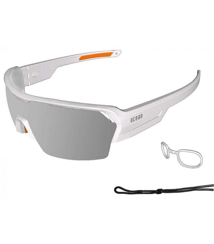 Ocean Race Matte White / Revo Grey Ocean Sunglasses Gafas de Sol Sport Gafas Sol Color: blanco