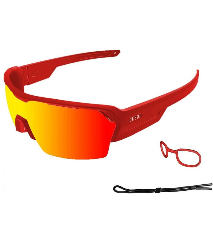 Ocean Race Matte Red / Red Revo Ocean Sunglasses Gafas de Sol Sport Gafas de Sol Color: rojo