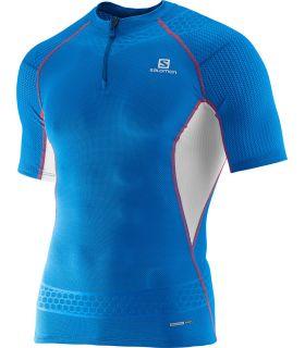 Salomon S-Lab Exo T-Skjorte Med Glidelås Blå 2